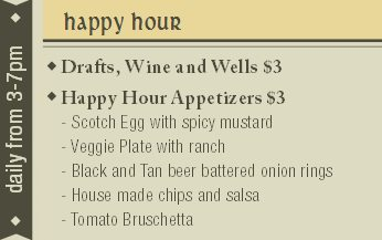 boulder happy hour Irish Pub Specials